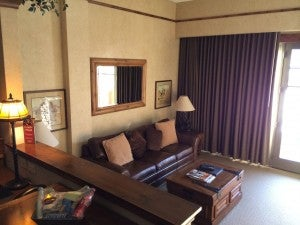 Sunken pull out sofa at Hotel Park City.