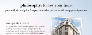 Win a romantic trip to Paris.