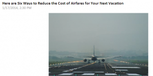 Tips to reduce the cost of airfare.