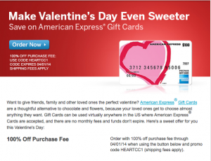 Amex is waiving gift card purchase fees.