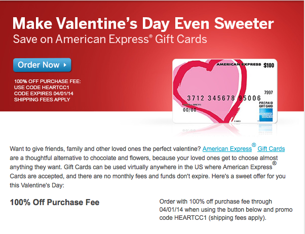Amex gift cards with no fees and rebates through april 1 the amex is waiving gift card purchase fees m4hsunfo