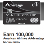 Amazing Deal Alert: Citi Executive AAdvantage World Mastercard Bonus Up To 100,000 Miles