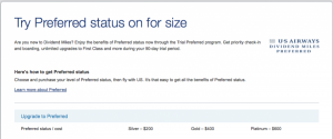Trial Preferred lets you buy status temporarily then fly to keep it.