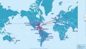 Use the Oneworld route map to determine which hubs you can take advantage of.