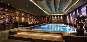 The infinity pool at the future Shangri La London.