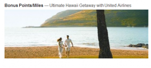 Get up to 15,000 United miles when staying in participating Marriott resorts in Hawaii.