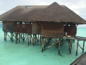 Spa Overwater Villa from outside