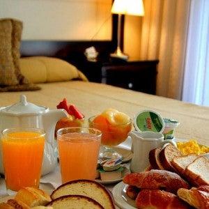 Breakfast at the Villagio Hotel.