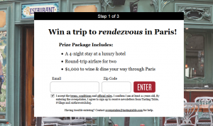Win a trip to Paris.