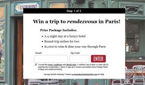 Win a trip to Paris.