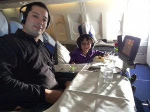 My daughter and I had a great time in Lufthansa first class!