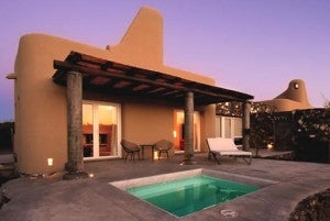 Each room at the Cavas Wine Lodge comes with a private plunge pool.
