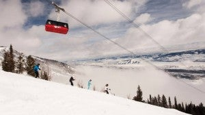 Jackson Hole is working to put in more basic trails for less advanced skiers. Photo courtesy of Four Seasons.