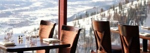 The food is almost as good as the spectacular views from mountaintop Couloir.