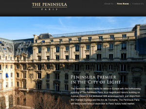 Coming soon: the Peninsula Paris.