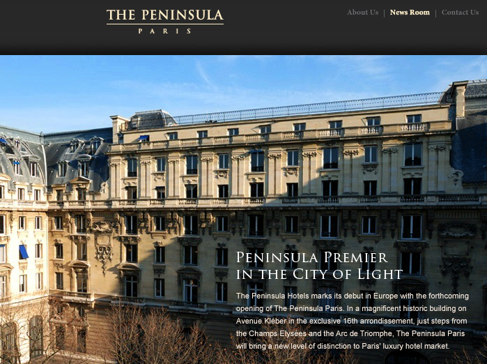 Coming soon: the Peninsula Paris.