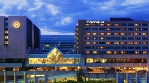 The Sheraton is one of the hotels in the airport.