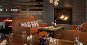 Head to the new Spur for perfect fireside apres-ski treats. Photo courtesy of Teton Mountain Lodge.