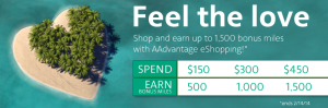 Get bonus miles for shopping at AAdvantage shopping portals.