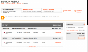 Aeroplan.com is showing the award space and the taxes/fees are low