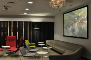 Visit the new Arts & Lounge at Newark airport by paying $35 or being an El Al premium passenger.