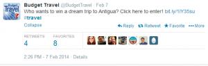 Win a hotel stay in Antigua.