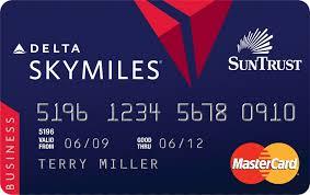 The Delta Suntrust debit card.