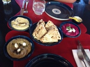 The hummus was some of the best I've had.
