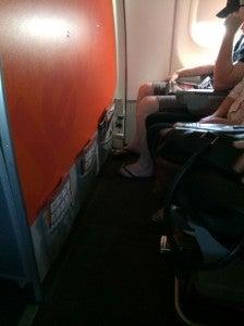 Eric's row wasn't as spacious.