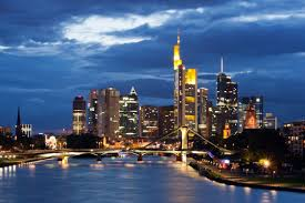 """The Frankfurt skyline is often called """"Mainhattan"""" after NYC's Manhattan, but situated on the Main River."""