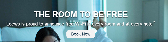 Loews recently launched free WiFi in every guest room at every resort.