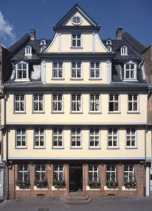 Visit the Goethe House in the Museum Embankment area of Frankfurt.
