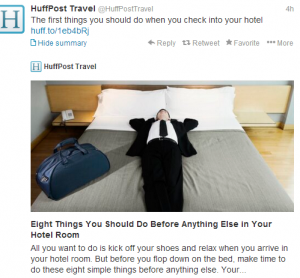 Things to do when you first arrive in your hotel room.