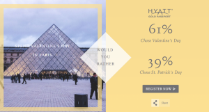 Play the Hyatt Gold Passport Facebook game.