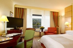 A superior room at the IHG Frankfurt.