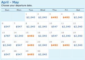 May cheap fare dates