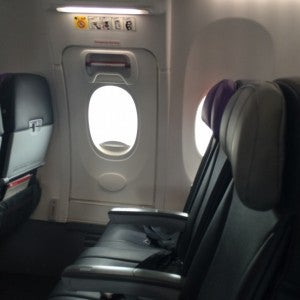 Legroom in exit