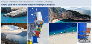 Earn and redeem miles with Olympic Air.