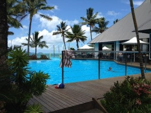 One of the pools at the Resort Centre.