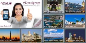 Enter Qatar's #Destigram contest to win airline tickets or miles.