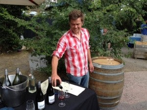 Rob Hall pouring us some of his private label wines.