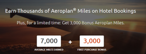 Rocketmiles is offering an Aeroplane miles bonus.