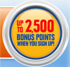 Get 2,500 bonus points for signing up for Southwest Rapid Rewards.
