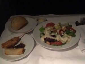 The salad and starters.
