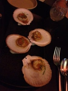 The scallops were delicious.