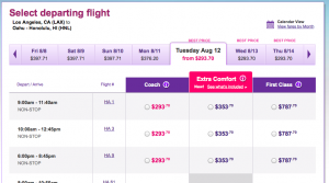 Extra Comfort seats are going for as low as $40 each way, and are already on sale in August.