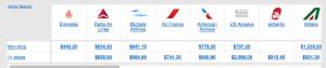Delta/Alitalia aren't price matching just yet.