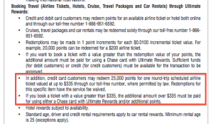 The Chase Freedom will get you up to 1.34 cents per point on travel.