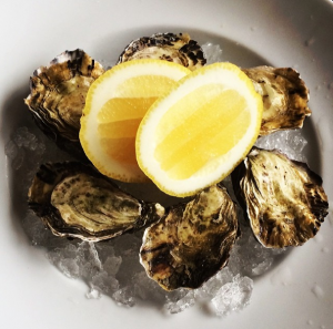 My Tasmanian oysters were briny and delicious.