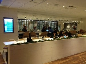One of the Star Alliance lounge's bars.